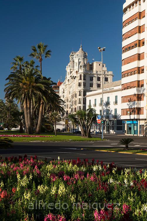 Puerta del Mar square, Alicante, Spain