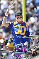 091816 Los Angeles, CA: Chad Smith and The Red hot Chili Peppers perform at the Los Angeles Memorial Coliseum before the Los Angeles Rams 2016 home opener