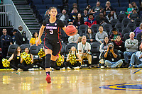 SAN FRANCISCO, CA - NOVEMBER 09: San Francisco, CA - November 9, 2019: Anna Wilson at the Chase Center. The Stanford Cardinal defeated the USF Dons 97-71. during a game between University of San Francisco and Stanford Basketball W at Chase Center on November 09, 2019 in San Francisco, California.