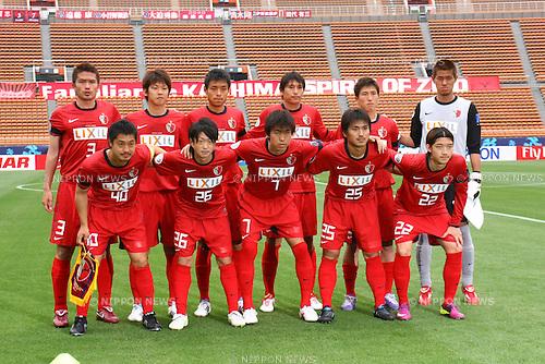 Kashima Antlers team group line-up, MAY 10th, 2011 - Football : Kashima Antlers team group shot (Top row - L to R) Daiki Iwamasa, Yuya Osako, Takeshi Aoki, Koji Nakata, Takuya Nozawa, Hitoshi Sogahata, (Bottom row - L to R) Mitsuo Ogasawara, Kenji Koyano, Toru Araiba, Yasushi Endo and Daigo Nishi before the AFC Champions League Group H match between Kashima Antlers 2-1 Sydney FC at National Stadium in Tokyo, Japan. (Photo by Kenzaburo Matsuoka/AFLO).
