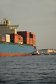 Stock Photo Cargo Ship at Harbor
