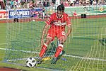 18.07.2018, Voehlinstadion, Illertissen, GER, FSP, FV Illertissen - VfB Stuttgart, im Bild Nicolas Gonzalez (Stuttgart, #22) holt den Ball aus dem Netz<br /> <br /> Foto &copy; nordphoto / Hafner