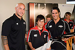 Roller Mills  Player of the Year Alex Perez with DJ Forbes & Chad Tuoro. Counties Manukau Rugby Union Junior representative prize giving held at Growers Stadium on Monday October 20th 2008.