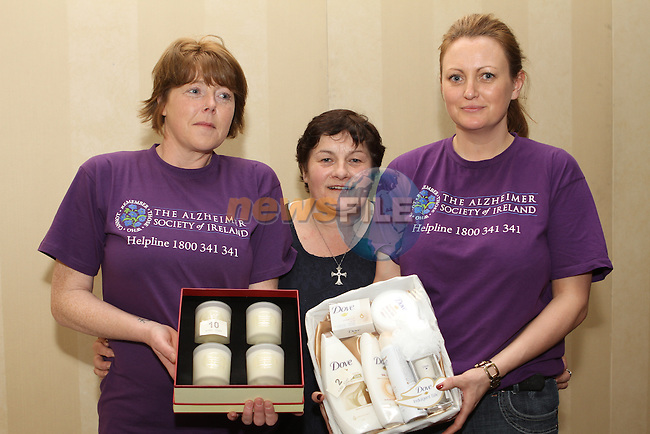 Ruth Healy, Rita Farrelly and Mandy Gallagher at the Alzheimer Day Care Tea Day in the Westcourt...(Photo Jenny Matthews/www.golffile.ie)
