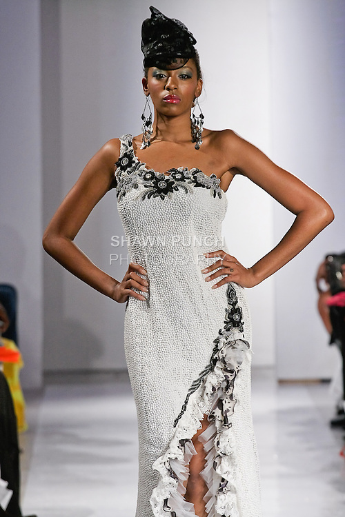 Model walks the runway in an outfit by Jaya Misra for the Jaya Misra Spring 2012 C'est la vie collection, during BK Fashion Weekend Spring Summer 2012.