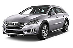 2015 Peugeot 508 RXH 5 Door Wagon 2WD Angular Front stock photos of front three quarter view