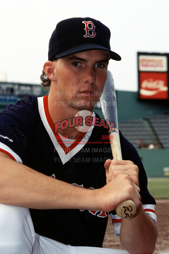 Boston Red Sox first round draft pick Trot Nixon poses for a photo after signing his contact with the team at Fenway Park in Boston, Massachusetts in 1993.  (Ken Babbitt/Four Seam Images)