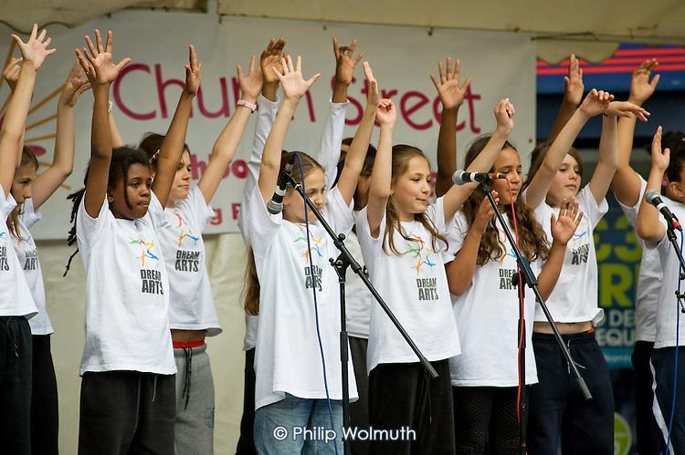 Dream Arts performance at Church Street Summer Festival 2009, organised by Church Street Neighbourhood Forum.