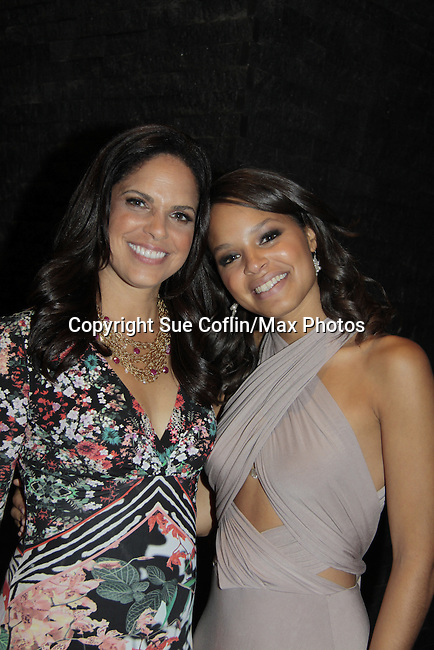 Soledad O'Brien & niece Antonia at Soledad O'Brien and Brad Raymond Starfish Foundation presents New Orleans to New York City 2014 Gala on July 24, 2014 at Espace, New York City for VIP Cocktail Reception, dinner, entertainment with Grammy Award winning Trumpeteer Irvin Mayfield (also Board president) and the New Orleans Jazz Orchestra. (Photo by Sue Coflin/Max Photos)