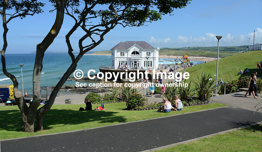 GV, general view, Arcadia, Portrush, Co Antrim, N Ireland, UK. 201406213157<br /> <br /> Copyright Image from Victor Patterson, 54 Dorchester Park, Belfast, UK, BT9 6RJ<br /> <br /> Tel: +44 28 9066 1296<br /> Mob: +44 7802 353836<br /> Voicemail +44 20 8816 7153<br /> w: victorpatterson.com<br /> <br /> e1: victorpatterson@me.com<br /> e2: victorpatterson@gmail.com<br /> <br /> <br /> IMPORTANT: Please see my Terms and Conditions of Use at www.victorpatterson.com