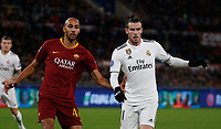 Gareth Bale of Real Madrid  and Steven Nzonzi of AS Roma  during the Champions League Group  soccer match between AS Roma - Real Madrid  at the Stadio Olimpico in Rome Italy 27 November 2018
