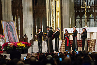 NEW YORK, NY - DECEMBER 11: A group of mariachis make their presentation in the Cathedral of Saint Patrik, on December 11, 2018, in New York. Where hundreds of parishioners attend to pay homage to the Virgin of Guadalupe. (Photo by Pablo Monsalve/VIEWpress)