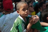 SÃO PAULO-SP-23,08,2014-FESTA POPULAR DO CENTENÁRIO DO PALMEIRAS- Torcedores da Sociedade Esportiva Palmeiras,Diretoria;Ex -Jogadores e convidados comemoram o centenário do clube em festa na Praça da Sé,local da criação do clube.Região Central da cidade de São Paulo,na tarde desse Sábado,23 (Foto:Kevin David/Brazil Photo Press)