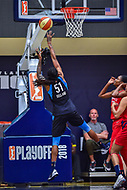 Washington, DC - August 31, 2018: Atlanta Dream forward Jessica Breland (51) hits a fade away jump shot during semi finals playoff game between Atlanta Dream and Wasington Mystics at the Charles Smith Center at George Washington University in Washington, DC. (Photo by Phil Peters/Media Images International)