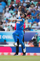 Jasprit Bumrah (India) in action during India vs New Zealand, ICC World Cup Warm-Up Match Cricket at the Kia Oval on 25th May 2019
