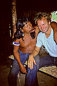 Capoto village; Brazil. Sting with Chief Raoni of the Megranoti-Kayapo in Nov 1990.