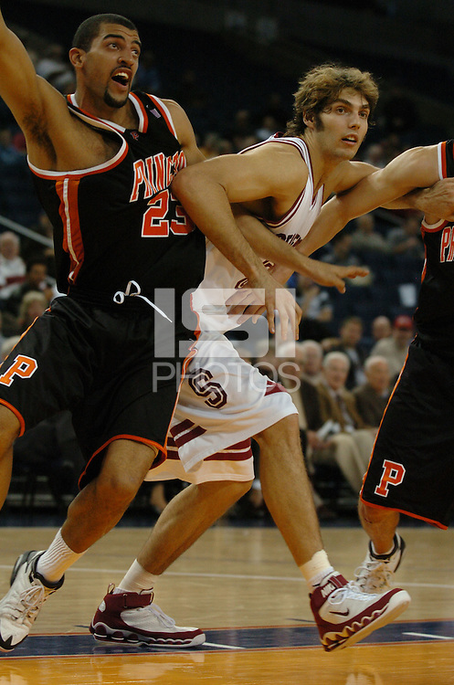 21 December 2005: Peter Prowitt during the Stanford Cardinal's 58-34 win against the Princeton Tigers at the Pete Newell Challenge at the Oakland Coliseum in Oakland, CA.