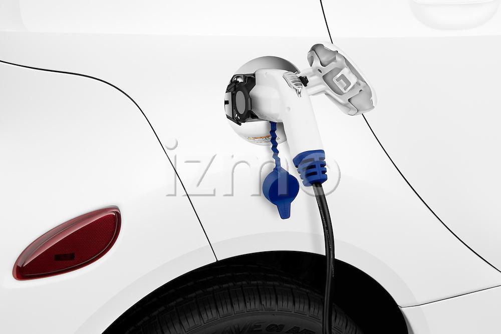 Electric car charging on a 2012 Mitsubishi MiEV SE