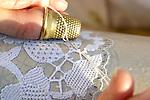 Burano, merlettaia al lavoro, 2004, lace maker at work © Fulvia Farassino