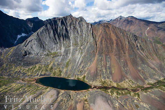 Aerial views of Ogilvie Mountains and Tombstone Park, Yukon