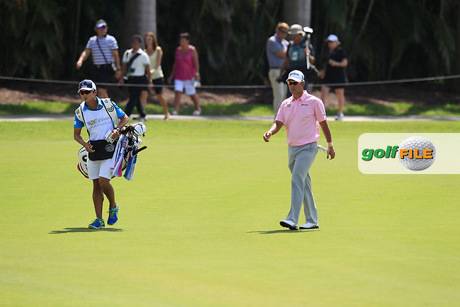 Hideki Matsuyama (JAP) during the 1st round at the WGC Cadillac Championship, Blue Monster, Trump National Doral, Doral, Florida, USA<br /> Picture: Fran Caffrey / Golffile