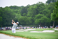 Emiliano Grillo (ARG) hits his approach shot on 1 during round 4 of the Dean &amp; Deluca Invitational, at The Colonial, Ft. Worth, Texas, USA. 5/28/2017.<br /> Picture: Golffile | Ken Murray<br /> <br /> <br /> All photo usage must carry mandatory copyright credit (&copy; Golffile | Ken Murray)