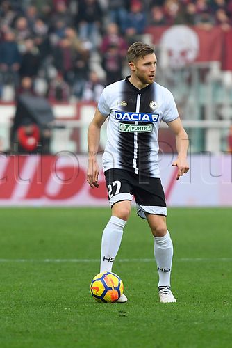 11th February 2018, Stadio Olimpico di Torino, Turin, Italy; Serie A football, Torino versus Udinese; Antonin Barak on the ball