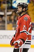 Denis Chisholm (NU - 24) - The Northeastern University Huskies defeated the Harvard University Crimson 3-1 in the Beanpot consolation game on Monday, February 12, 2007, at TD Banknorth Garden in Boston, Massachusetts.
