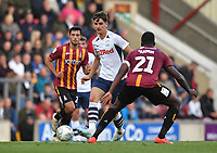 Preston North End's Tom Bayliss on the ball<br /> <br /> Photographer Dave Howarth/CameraSport<br /> <br /> The Carabao Cup First Round - Bradford City v Preston North End - Tuesday 13th August 2019 - Valley Parade - Bradford<br />  <br /> World Copyright © 2019 CameraSport. All rights reserved. 43 Linden Ave. Countesthorpe. Leicester. England. LE8 5PG - Tel: +44 (0) 116 277 4147 - admin@camerasport.com - www.camerasport.com