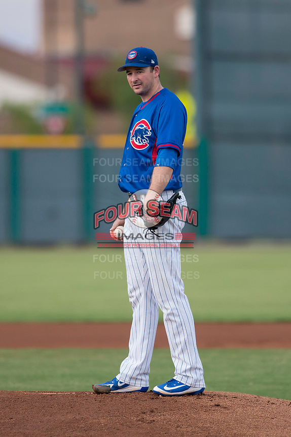 AZL Cubs 2 starting pitcher Allen Webster (78) stands on the mound in a rehab assignment during an Arizona League game against the AZL White Sox at Sloan Park on July 13, 2018 in Mesa, Arizona. The AZL Cubs 2 defeated the AZL White Sox 6-4. (Zachary Lucy/Four Seam Images)