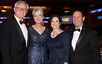 NWA Democrat-Gazette/CARIN SCHOPPMEYER Mercy Clinics Northwest Arkansas President Dr. Stephen and Susan Goss (from left) and Dawn and Eric Pianalto, Mercy Hospital Northwest Arkansas president, welcome guests to O' Night Divine.