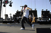 Indio, Ca- Kanye West at Coachella Valley Music and Arts Festival on the main stage during performance Saturday April 29 2006.