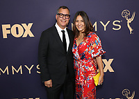 LOS ANGELES - SEPTEMBER 22: Kent Alterman and Michele Brennan attend the 71st Primetime Emmy Awards at the Microsoft Theatre on September 22, 2019 in Los Angeles, California. (Photo by Brian To/Fox/PictureGroup)