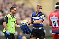 Jack Walker of Bath Rugby. Aviva Premiership match, between Bath Rugby and Worcester Warriors on October 7, 2017 at the Recreation Ground in Bath, England. Photo by: Patrick Khachfe / Onside Images