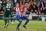 Atletico de Madrid's Nico Gaitán celebrating a goal during La Liga match between Atletico de Madrid and Real Betis at Vicente Calderon Stadium in Madrid, Spain. January 14, 2017. (ALTERPHOTOS/BorjaB.Hojas)