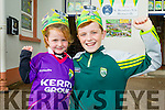 Sarah and Danny Greaney, Tralee pupils at Blennerville National School wearing Kerry's Eye All Ireland hats.