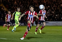 Lincoln City's Harry Anderson kicks clear<br /> <br /> Photographer Andrew Kearns/CameraSport<br /> <br /> The EFL Sky Bet League One - Lincoln City v Bolton Wanderers - Tuesday 14th January 2020  - LNER Stadium - Lincoln<br /> <br /> World Copyright © 2020 CameraSport. All rights reserved. 43 Linden Ave. Countesthorpe. Leicester. England. LE8 5PG - Tel: +44 (0) 116 277 4147 - admin@camerasport.com - www.camerasport.com