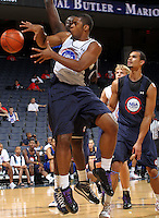 Achraf Yacoubou at the NBPA Top100 camp June 18, 2010 at the John Paul Jones Arena in Charlottesville, VA. Visit www.nbpatop100.blogspot.com for more photos. (Photo © Andrew Shurtleff)