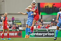 Portland, OR - Saturday April 29, 2017: Julie Johnston Ertz, Lindsey Horan during a regular season National Women's Soccer League (NWSL) match between the Portland Thorns FC and the Chicago Red Stars at Providence Park.