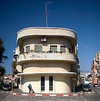 The Bauhaus style building at 8 Resh Galuta Street in Jaffa built by architect Ahmed Damiaty in 1935. Tel Aviv is known as the White City in reference to its collection of 4,000 Bauhaus style buildings, the largest number in any city in the world. In 2003 the Bauhaus neighbourhoods of Tel Aviv were placed on the UNESCO World Heritage List.