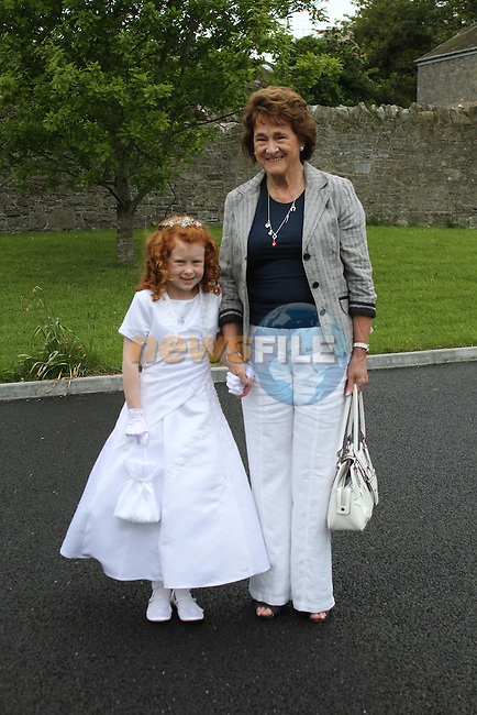 Maureen and Bronagh Lane at Slane NS Communion...(Photo credit should read Jenny Matthews www.newsfile.ie)....This Picture has been sent you under the conditions enclosed by:.Newsfile Ltd..The Studio,.Millmount Abbey,.Drogheda,.Co Meath..Ireland..Tel: +353(0)41-9871240.Fax: +353(0)41-9871260.GSM: +353(0)86-2500958.email: pictures@newsfile.ie.www.newsfile.ie.