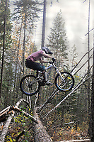 "Lukas Schimdt on ""No Brakes"" trail. Mount Buchanan, Kaslo, BC"