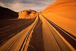 """""""The Wave"""" sandstone formation in the Paria-Vermillion Cliffs Wilderness, Arizona."""