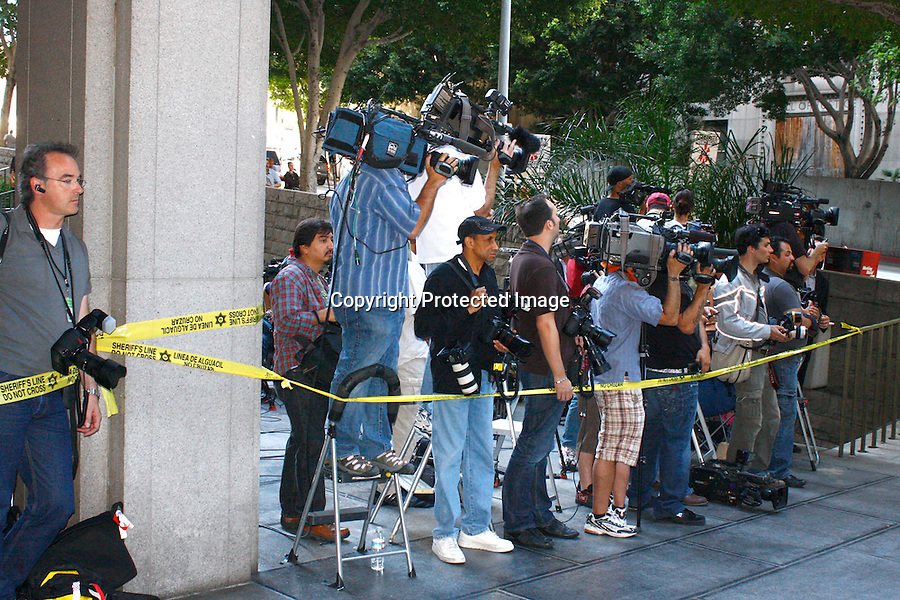 .4-6-09  .CHRIS BROWN AT COURT IN PASADENA WITH A MOB OF REPORTERS AND PAPARAZZI PROTESTERS . ..AbilityFilms@yahoo.com.805-427-3519.www.Abilityfilms.com.