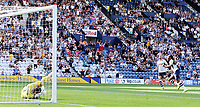 Preston North End's Daniel Johnson wheels away in celebration after scoring his side's second goal from the penalty spot<br /> <br /> Photographer Rich Linley/CameraSport<br /> <br /> The EFL Championship - Preston North End v Sheffield Wednesday - Saturday August 24th 2019 - Deepdale Stadium - Preston<br /> <br /> World Copyright © 2019 CameraSport. All rights reserved. 43 Linden Ave. Countesthorpe. Leicester. England. LE8 5PG - Tel: +44 (0) 116 277 4147 - admin@camerasport.com - www.camerasport.com