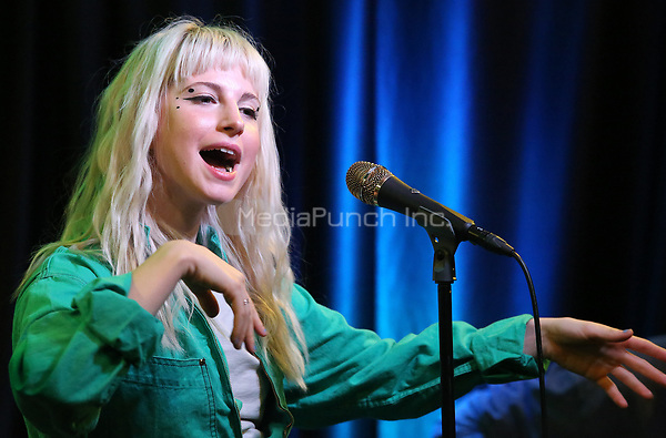 BALA CYWYD, PA - OCTOBER 9 :  Paramore visit Radio 104.5 performance studio in Bala Cynwyd, Pa on October 9, 2017   ***HOUSE COVERAGE photo credit  Star Shooter / MediaPunch
