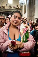 Mass for (San Judas Tadeo) Saint Judas, patron saint favored by criminals and ex-criminals. Mexico City.