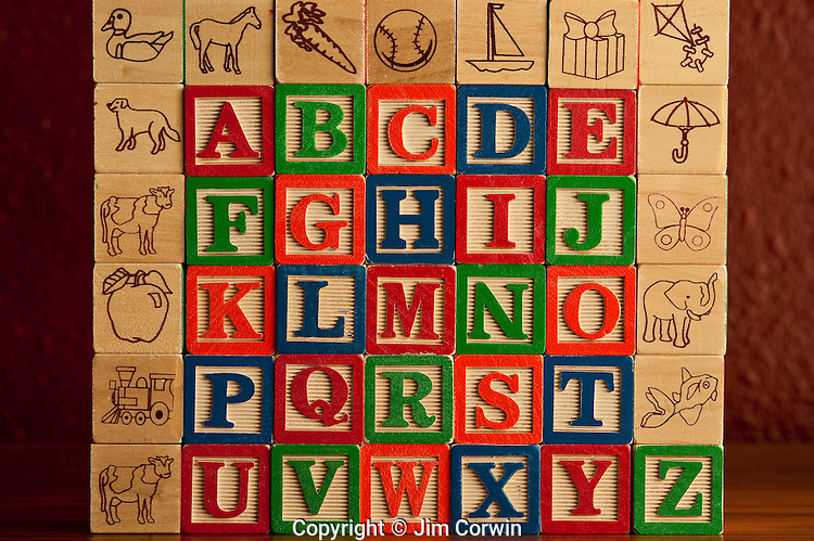 Alphabet Blocks stacked together