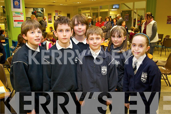The Spa National School students who took part in the Primary School's Quiz on Thursday evening in the IT South Campus were l-r: Micheál O'Sullivan, Tom Greaney, Robin Porter, Jack Falvey, Bronagh Foley and Kate Hennessy.