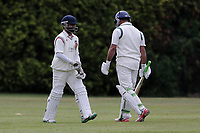M Akhtar (R) of Ilford leaves the field having been dismissed during Brentwood CC vs Ilford CC, Shepherd Neame Essex League Cricket at The Old County Ground on 8th June 2019